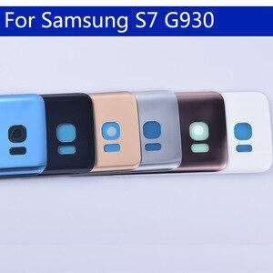 Image 3 - 10Pcs dużo S7 tylna pokrywa baterii do Samsung Galaxy S7 G930 G930F G930A SM G930L tylna obudowa baterii przypadku drzwi wymiana części