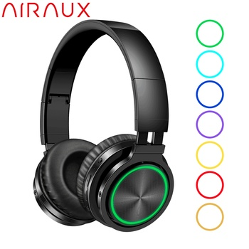 BlitzWolf AIRAUX bluetooth Wireless Headphones HiFi Stereo Music Headset RGB Light HD Call TF Card Earphone for PC Computer