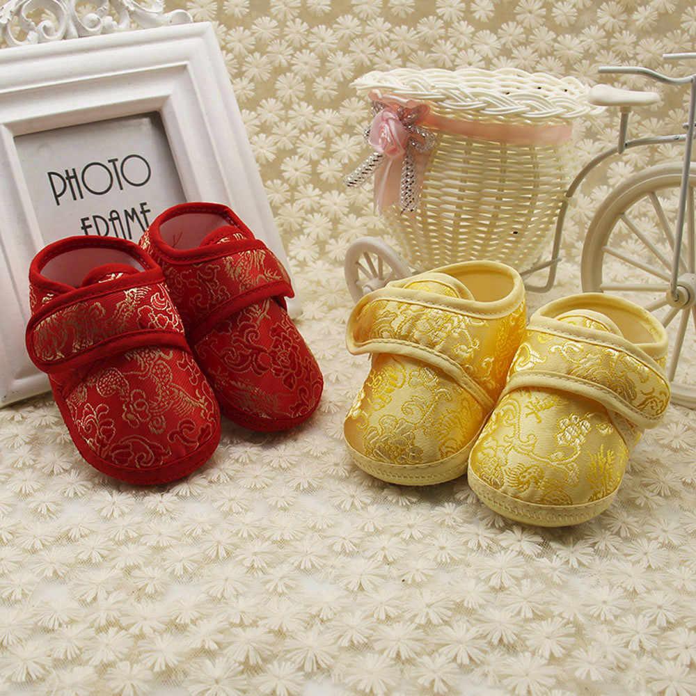 Sonbahar kelebek-düğüm çocuk kanvas ve EVA ayakkabı çizgili ve kanca döngü ayakkabı rahat ve yumuşak bahar ve sonbahar bebek kız ayakkabı
