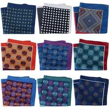 Luxury 30CM men Pocket Squares Men's Handkerchief mens Floral paisley scarf Hankies Chest Towel Printed wedding party gift