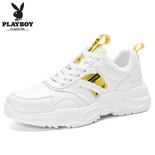 PLAYBOY ผู้ชายรองเท้าลำลองรองเท้ากลางแจ้งผู้ชายรองเท้าสบายรองเท้าผ้าใบแฟชั่นผู้ชายเดินรองเท้า Zapatillas PL615122