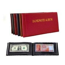 Álbum de notas de cartão, álbum de proteção para coleção de moedas de papel