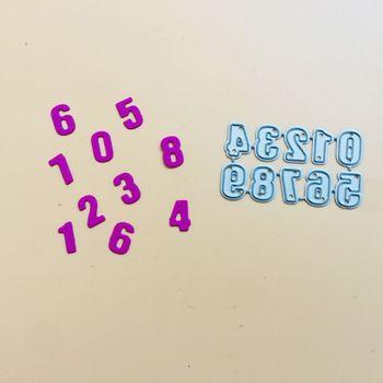 Numbers Metal Cutting Dies Stencil Scrapbooking DIY Album Stamp Paper Embossing