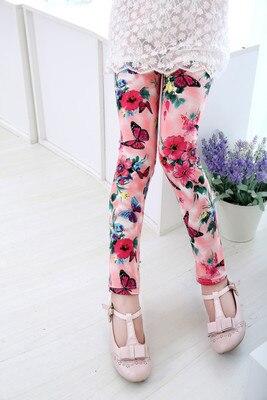 VIDMID Girls Skinny Leggings Candy Color Lace pants Leggins for Baby Girl Kids Children cotton Princess trousers pants 4114 07 5