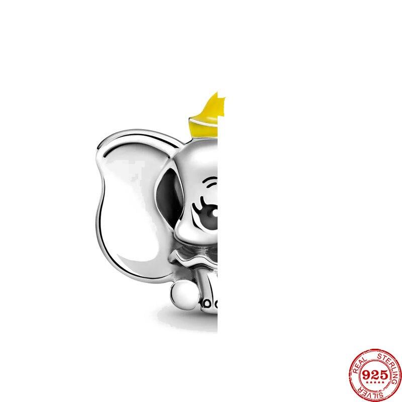 Новый оригинальный Серебряный слон Diy бусины соответственные Европейской Пандоре обаятельные браслеты с подвесками сделай сам, ювелирное ...
