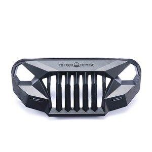 Image 5 - Ms raiva frente rosto grating para 1/10 rc rastreador carro trx4 axial scx10 jeep jk wrangler sema frente grille irritado rosto