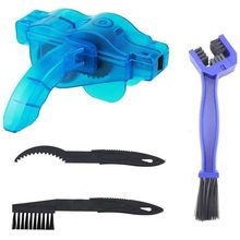 Bike Chain Scrubber, 4-Piece Portable Mountain Bike Chain Washer Cleaner Tool Quick Bicycle Clean Brush Kit for Cycling Bike, Ro цена