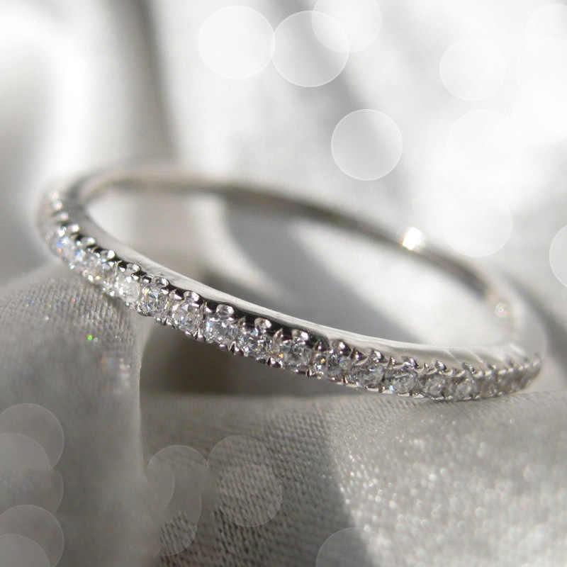 925 argento di Colore di 1.5 Carati di Diamanti Anello per le Donne di Modo 14K Oro Puro di Pietra Dei Monili di Cerimonia Nuziale 100% 925 Argento anello di colore