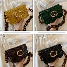 Female Chain Shoulder Bag Fashion Stone Pattern Leather Crossbody Bag For Women Handbags And Purses Ladies Messenger Bag 2020 cat pattern chain crossbody bag