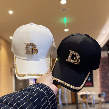Fashion Brand Diamond D Letter Baseball Cap for Women Summer Outdoor Sun Protection Hat 2021 Autumn Casual Ladies Caps