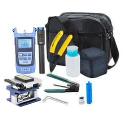 Fiber Optic FTTH Termination Tool Kit With  Power Meter Fault Finder