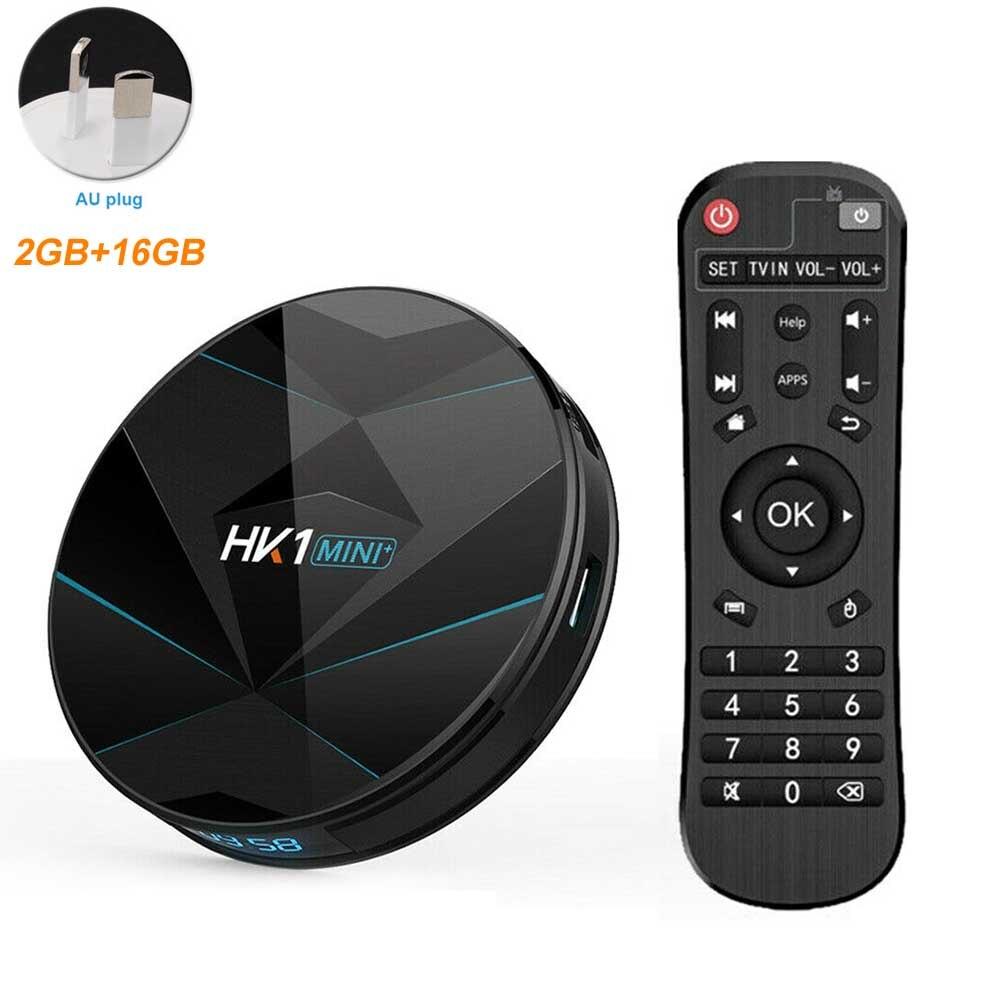 HK1 MINI Plus avec télécommande médias Smart USB 4K BT haute définition Stable numérique double WiFi Quad Core TV Box réseau