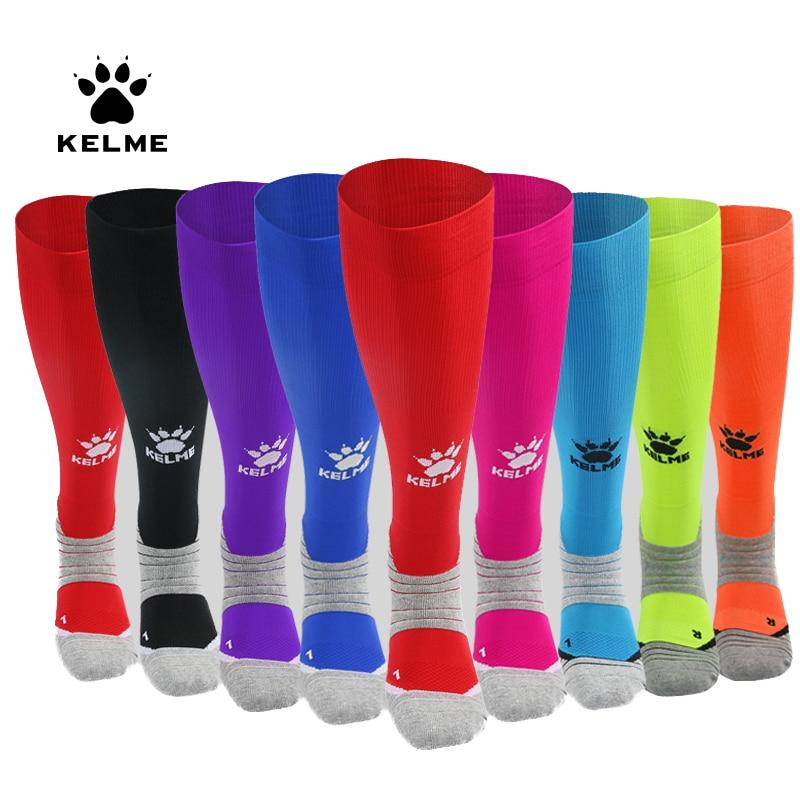 KELME Men Soccer Socks Non-slip Towel Bottom Stockings Sports Socks 9876311