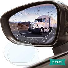 Film imperméable pour rétroviseur de voiture, 2 pièces, protection contre la pluie, Anti-buée, imperméable, Membrane, accessoires autocollants