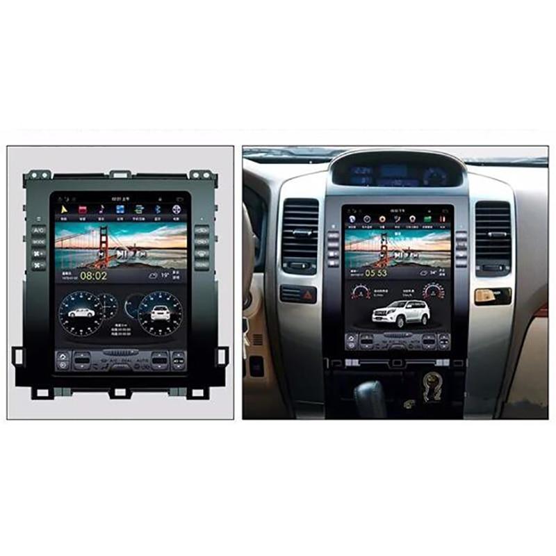 10.4inch Car Multimedia Android 7.1 Car Gps Navigation 2+32G Tesla Screen For Toyota LAND CRUISER Prado 120 For Lexus GX470