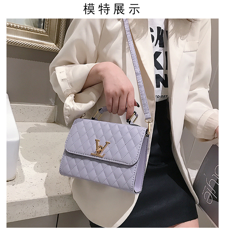 Kip Ling Women's Small Square Bag New Minimalist Fashion Embroidered Line Shoulder Portable Women's Bag LV Clutch, Handbags