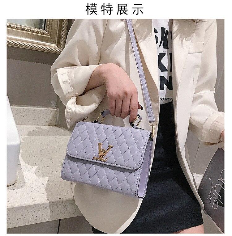 Kip Ling Women's Small Square Bag New Minimalist Fashion Embroidered Line Shoulder Portable Women's Bag LV Clutch, Handbags