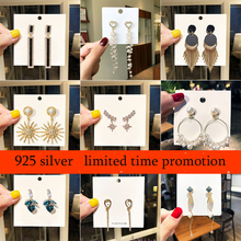 Earing Real Tin Alloy Aretes Needle Net Pearl Metal Earrings For 2019 New Fashion Temperament Earring Pendant Long Personalized