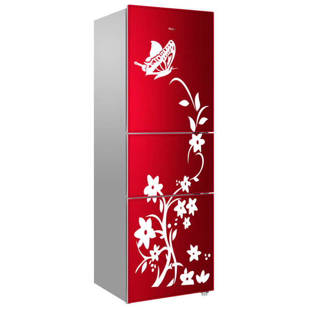 High Quality Creative Refrigerator Black Wall Sticker Butterfly Pattern Wall Stickers Home Decoration Kitchen Home Wallpaper New
