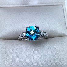 attractive natural topaz gemstone Ring heart sky blue color Jewelry 925 sterling silver certified gem girl birthday party gift(China)
