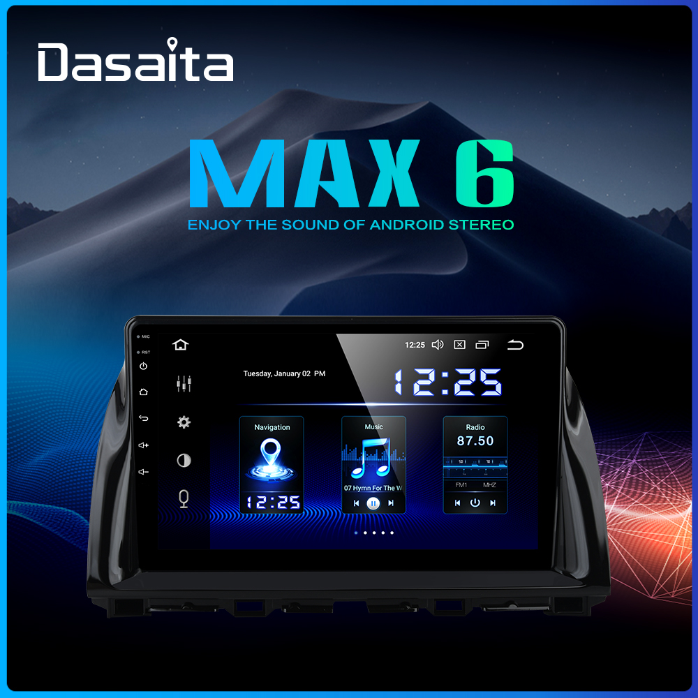 Dasaita 1 Din Android 9.0 Car <font><b>Navigation</b></font> GPS for <font><b>Mazda</b></font> <font><b>CX5</b></font> CX-5 2013 2014 2015 DSP 64GB ROM 10.2
