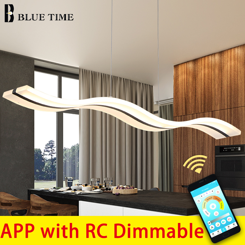 Modern LED Chandeliers For Bedroom Living Room Dining Room Kitchen Creative LED Hanging Indoor Lighting Fixture Remote Control