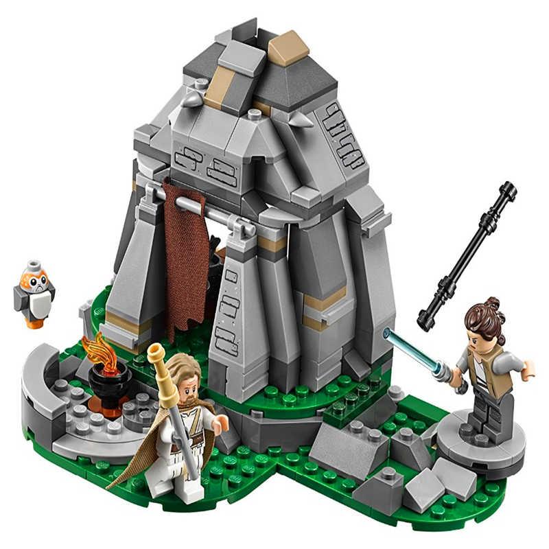 قوالب البناء من BELA 10903 طراز Lepining Star war The Ahch-To-Island متوافقة مع 75200 لعبة Playmobil للأطفال