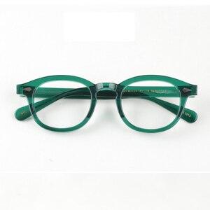 Image 2 - جوني ديب نظارات الرجال النظارات البصرية الإطار النساء العلامة التجارية تصميم خلات خمر الكمبيوتر النظارات جودة عالية Z088