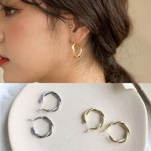 1 пара морозное ретро кольцо с перекрестным плетением серьги