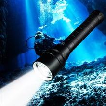 ZK20 Diving Flashlight T6 Underwater LED Flashlight