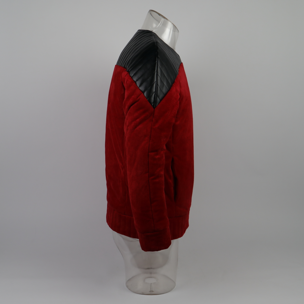 Star The Next Generation Trek Captain Picard Duty Uniform Jacket TNG Red Costume Man Winter Coat Warm Cosplay Costume Prop|Movie & TV costumes| - AliExpress