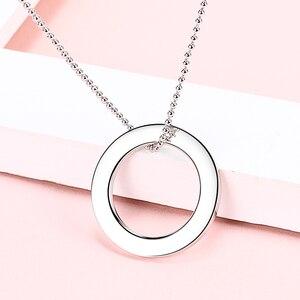 Image 4 - Collier en argent Sterling 925 avec cercle personnalisé personnalisation collier nom gravé cadeau saint valentin