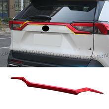 Czerwona tylna klapka pokrywa bagażnika górne listwy listwa pokrywa tapicerka dla Toyota RAV4 2019-2020 akcesoria samochodowe do stylizacji tanie tanio AOQDGRYJ China Before ABS plastic
