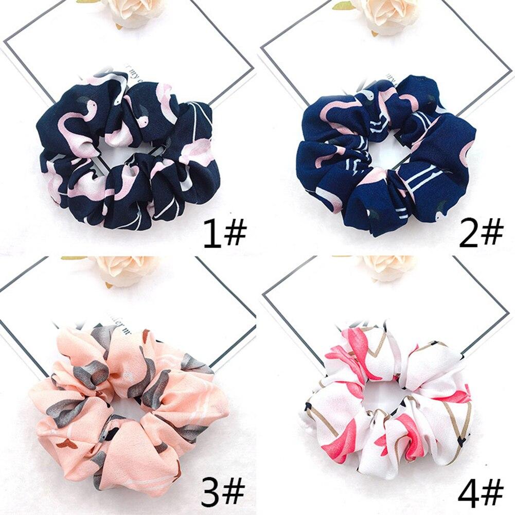 Купить с кэшбэком 4 Pcs/set Women Elastic Hair Ring Tie Ponytail Scrunchie Holder Hair Band Hair Bands Hair Accessories