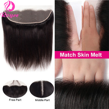 Brazilian Hair Bone Straight Transparent Human Hair Lace Closure 13x4 Lace Frontal Closure 4x4 5x5 Lace Closure With Baby Hair