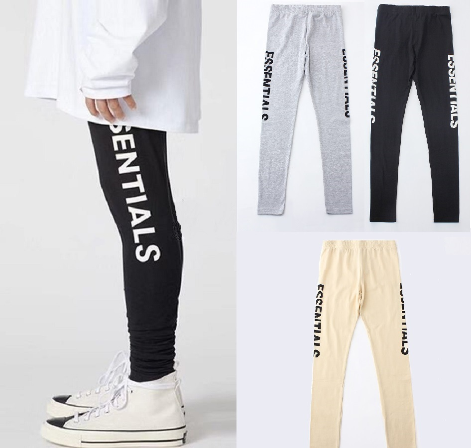 Fog Essentials Reproduction Lettered American-Style High Street Sports Casual Fitness Tight-Fit Men And Women Elasticity Legging