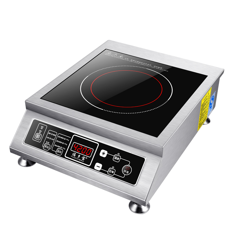 Stainless Steel 4200w Watt Induction Cooker High Power Plane Button Knob Household Commercial Fire Boiler Factory Direct
