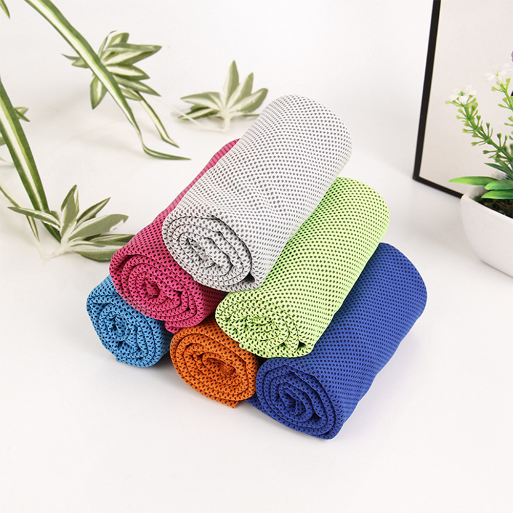 Hot 2 Pcs/pack Cooling Ice Sport Towel Utility Enduring Instant Cooling Towel For Fitness Yoga Swimming Travel Gym Chill  Towel