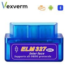 أداة تشخيص السيارات mini ELM327 ، جهاز الماسح الضوئي للسيارة ، مع Bluetooth ، Wifi ، OBD2 ، V2.1 ، V1.5 ، OBDII ، ELM 327 ، لنظام Android ، Windows Symbian
