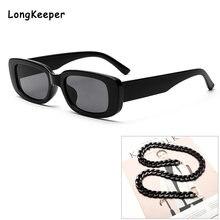Солнцезащитные очки с цепочкой для мужчин и женщин винтажные