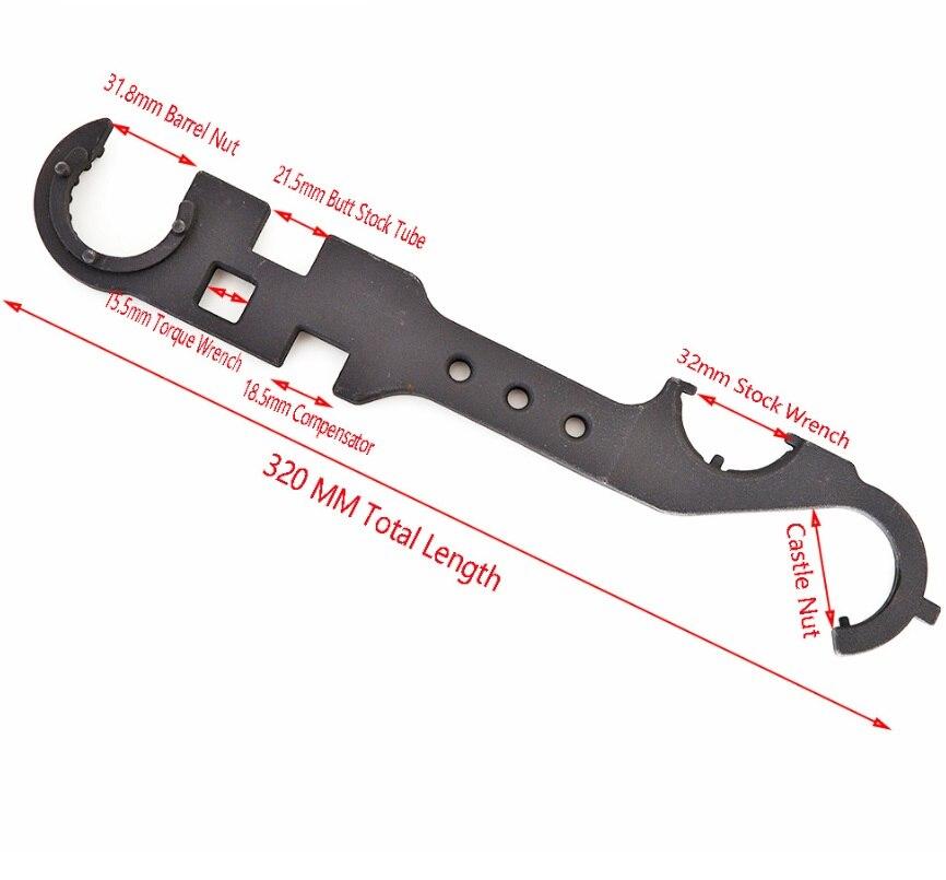 ferramenta chave inglesa handguard estoque barril remover ar 15 acessórios kxs11028