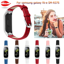 For Samsung Galaxy fit-e SM-R375 Smart Bracelet Genuine Leather Strap Band fashion Watchband Replacement Wristband Bracelet Belt laforuta silicone band for galaxy fit e strap rubber sport wrist band for samsung r375 loop women men fitness bracelet 2019