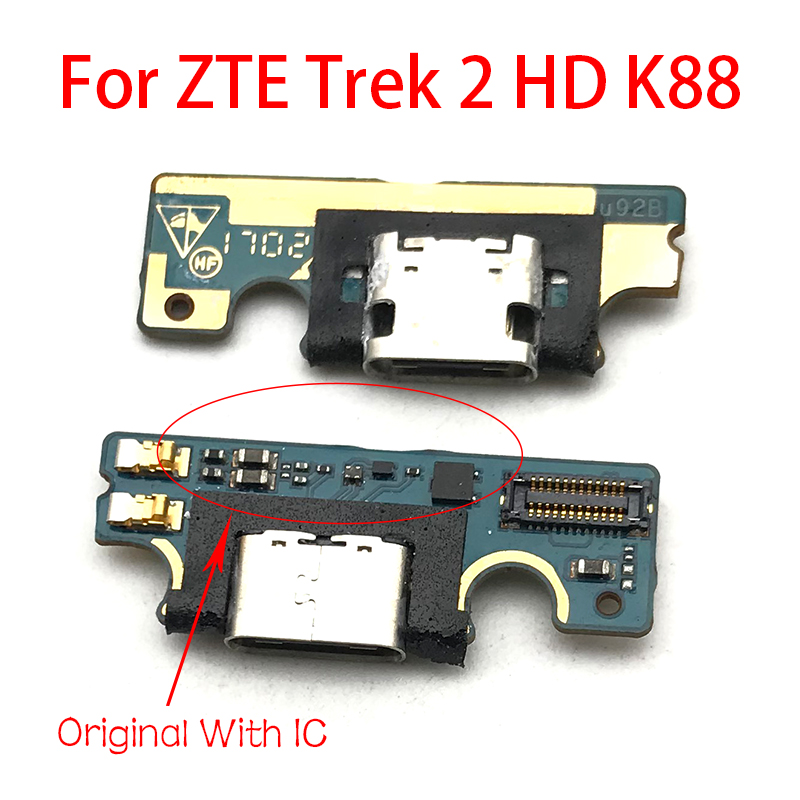 New For ZTE Trek 2 HD K88 Micro USB Charger Dock Connector Charging Port Microphone Flex Cable Replacement Parts