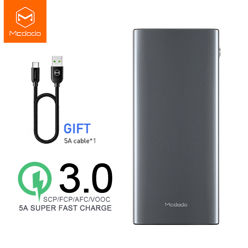 Mcdodo 5A Super Fast Charge Power Bank for Huawei Portable Charger External Battery VOOC QC3.0 AFC for Samsung Oppo x <font><b>oneplus</b></font> <font><b>6t</b></font> image