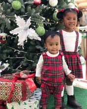 Brother Sister Christmas Matching Plaid Outfit