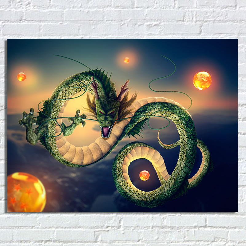Anime Dragon Ball Z Poster Shenron Dragon Ball Silk Wall Art Poster Dragon Picture 60X80Cm