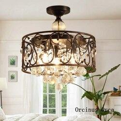 Nordic luksusowe lampy LED kryształowe sufitowe pokój dzienny korytarz sypialnia nowoczesne kreatywne czarny lampa sufitowa darmowa wysyłka