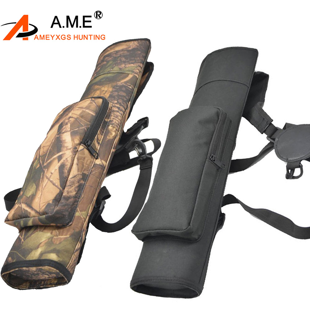 Black Back Archery Quiver Arrow Holder Bag for Outdoor Hunting Hold 40pcs Arrows