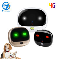 RF V43 4G LTE Dog Cat mini GPS Tracker pet tracker gps rolling LED Light Step Counting Voice Monitor Free GPS Tracking Software