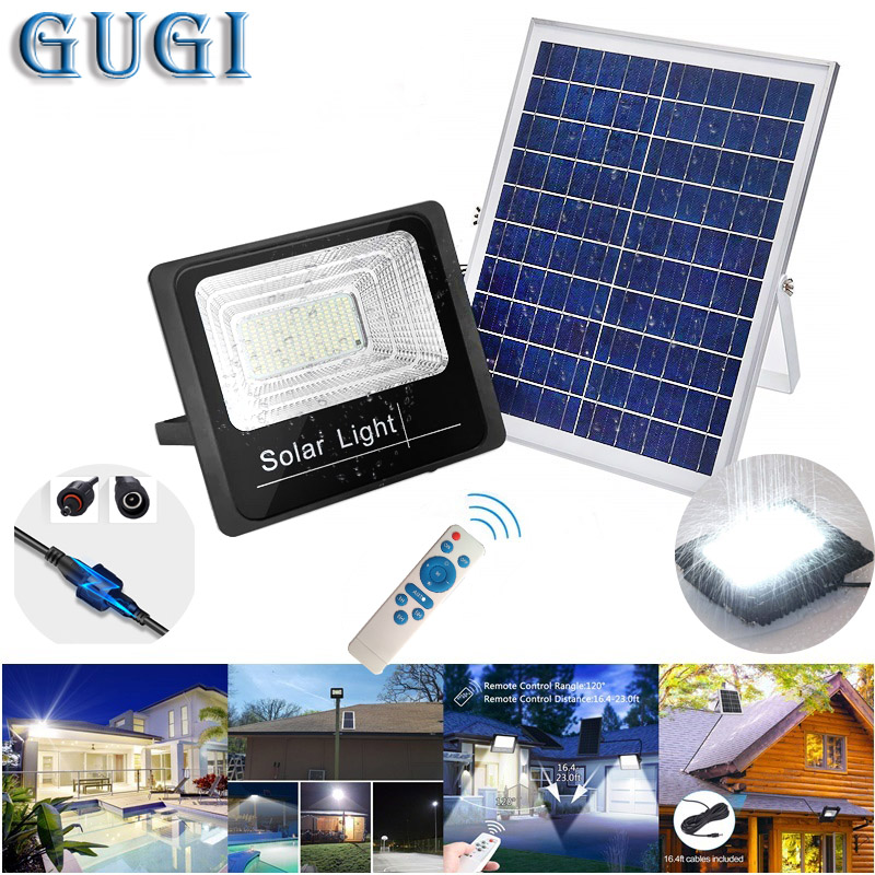 25W/45W/65W Solar Light Waterproof Control LED Floodlight Spotlight Solar Lamp IP67 Outdoor Park Garden Solar Flood Lights
